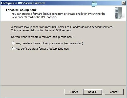 reverse lookup zone dns windows 2008