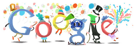 Happy New Year From  Google Doodle