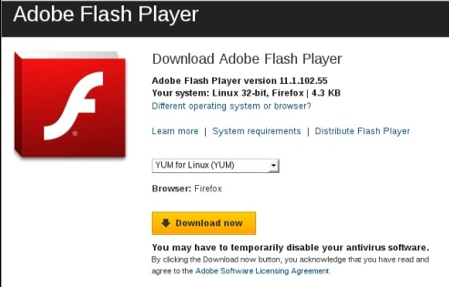 Install adobe flash player 11 on fedora 16 verne it How to start flash player