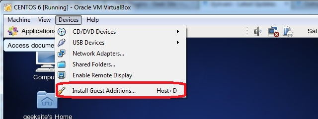 virtualbox centos 7 guest additions 1
