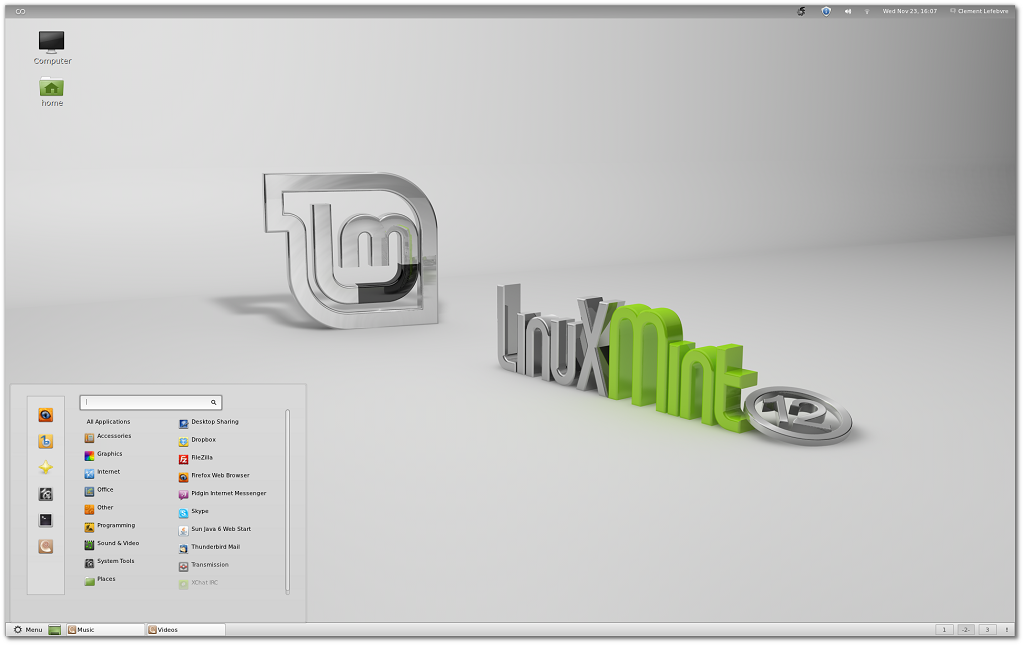 Features in Linux Mint 12