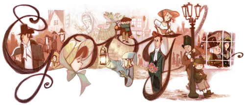 Charles Dickens 200th Birthday – Google Doodle