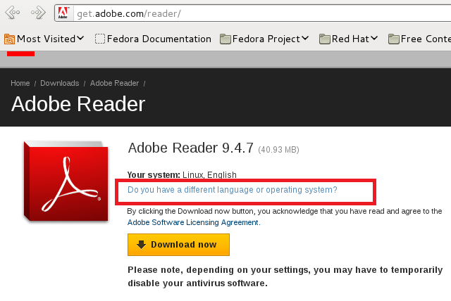 How To Install Adobe Reader 9 4 7 On Fedora 15 16 And Centos 6