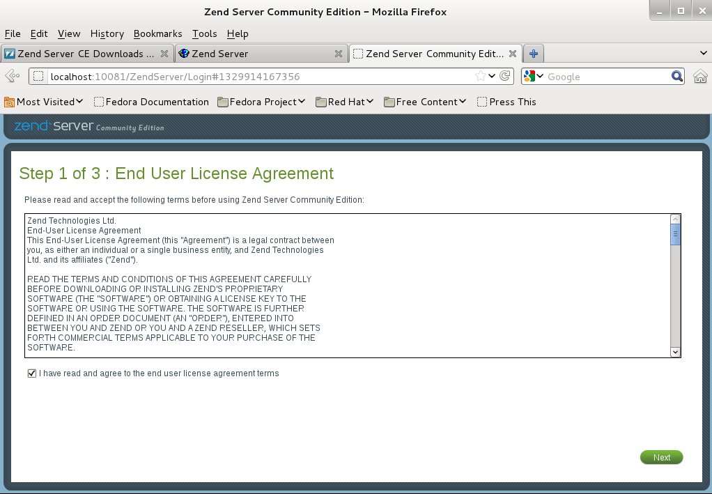 How to Install Zend Server CE on Fedora 16