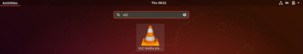 Install VLC Media Player on Ubuntu 18.04 - Open VLC Media Player