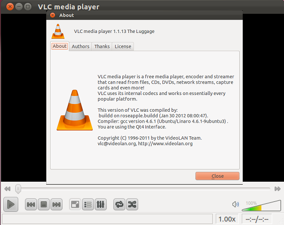 How to Install VLC 1 1 13 on Ubuntu 11 10 / 12 04 , Linux