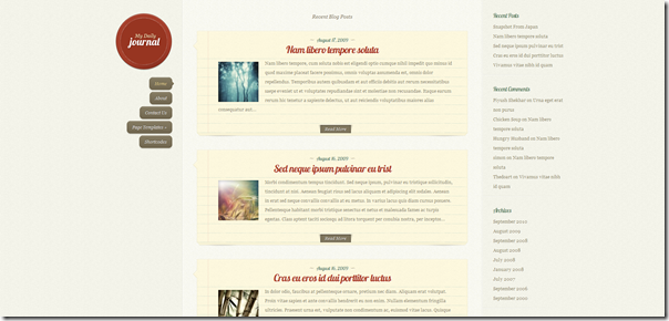 DailyJournal – Elegantthemes Premium WordPress Theme