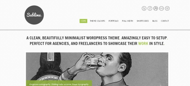 Sublime – Minimalist Agency/Freelancer Mojo-Themes Premium WordPressTheme