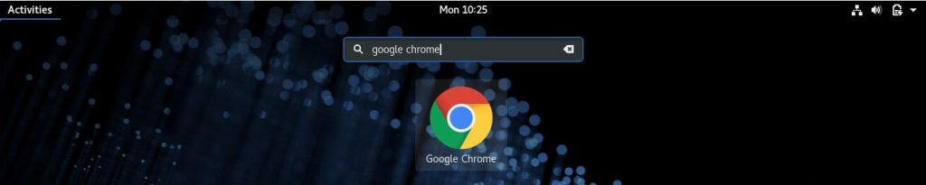 Install Google Chrome on Fedora 28 - Start Google Chrome on Fedora 28