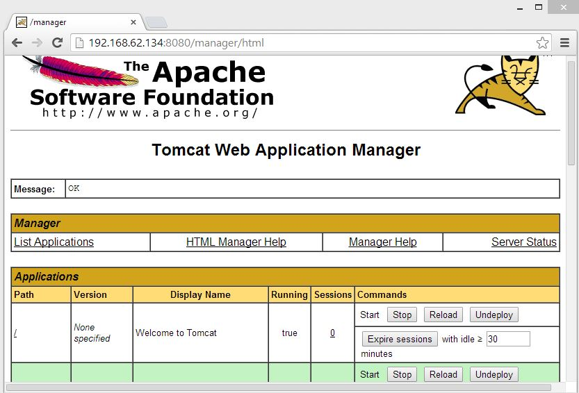 Tomcat  Manager