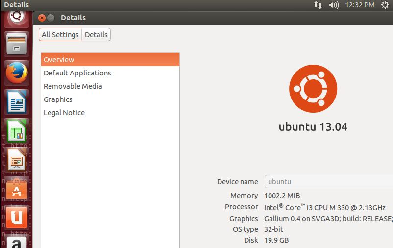 Ubuntu 13.04 - Version