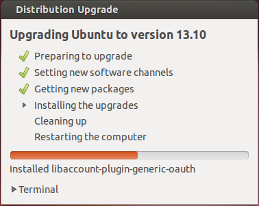 Ubuntu 13.10 - Upgrading