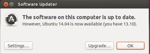 Ubuntu 14.04 - Upgrade