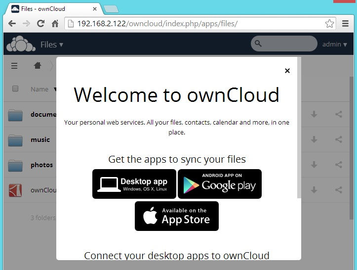 CentOS 7 - OwnCloud 7 Sync Options