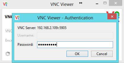 Configure VNC Server in CentOS 7 - VNC Authendication