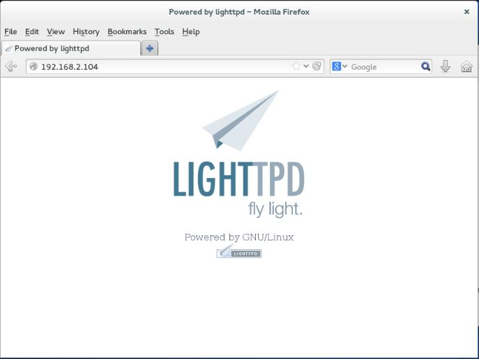 Fedora 20- Lighttpd Home Page