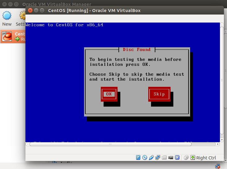 Oracle VM VirtualBox - Running VM
