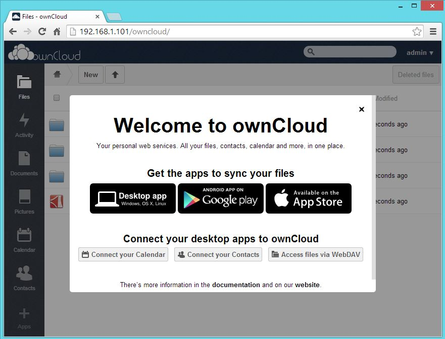 ownCloud - Sync Options