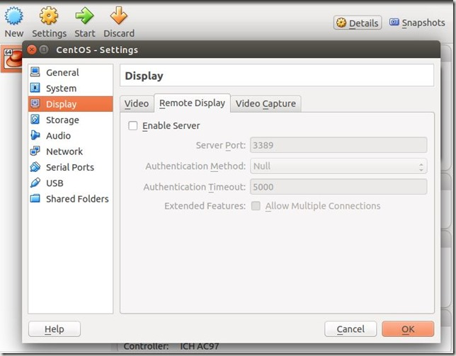 VirtualBox - Enable Remote Display