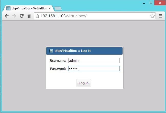 Manage VirtualBox with phpVirtualBox (Web Based Interface)
