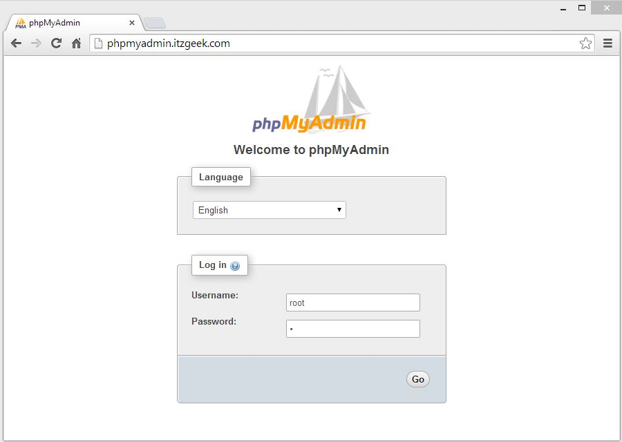 CentOS 7 - phpMyAdmin with Nginx Login Page
