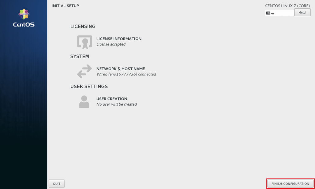 Install Gnome GUI on CentOS 7 - License Accepted