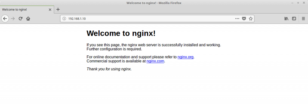 Install Linux, Nginx, MariaDB, PHP (LEMP Stack) in CentOS 7 - Nginx Default Page