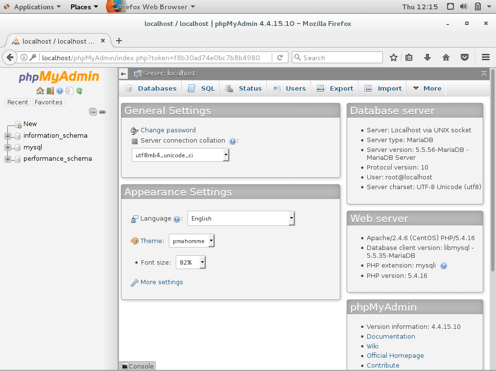 Install phpMyAdmin on CentOS 7 - phpMyadmin Home Page