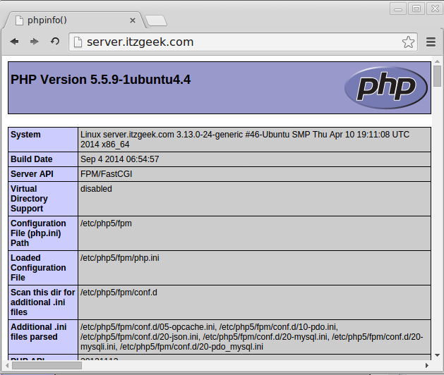 Linuxmint 17 - PHP5-FPM support