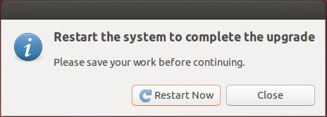 Ubuntu 14.10 Upgrade -  Restart