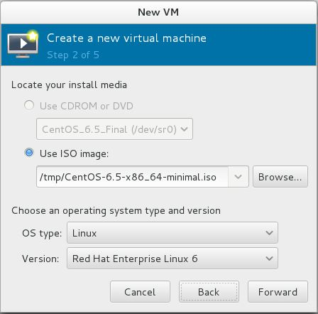 Install KVM (QEMU) on CentOS 7 - Virt Manager - Installation Media
