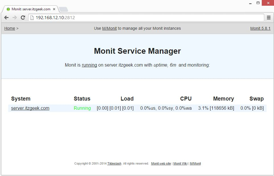 Install Monit on openSUSE 13.2 - Monit Home Page