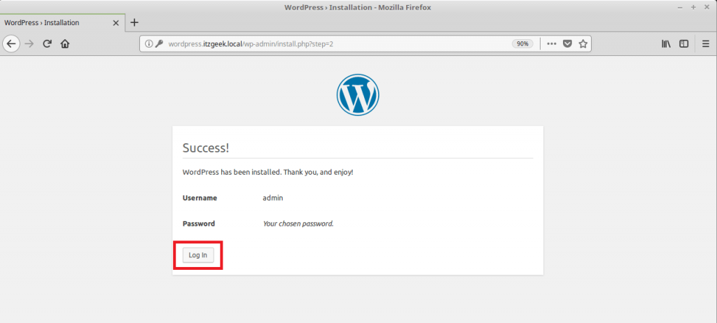Install WordPress with Nginx on CentOS 7 - WordPress Setup Completed
