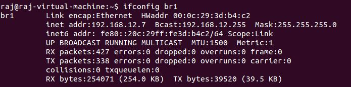 Configure bridged networking for KVM on Ubuntu 16.04 - Bridged Networking Verifying details