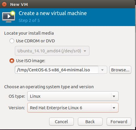 Ubuntu 14.10 - Virt Manager - Create a VM - Location of Media