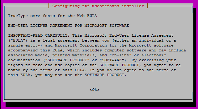 Install OnlyOffice - EULA MS Fonts