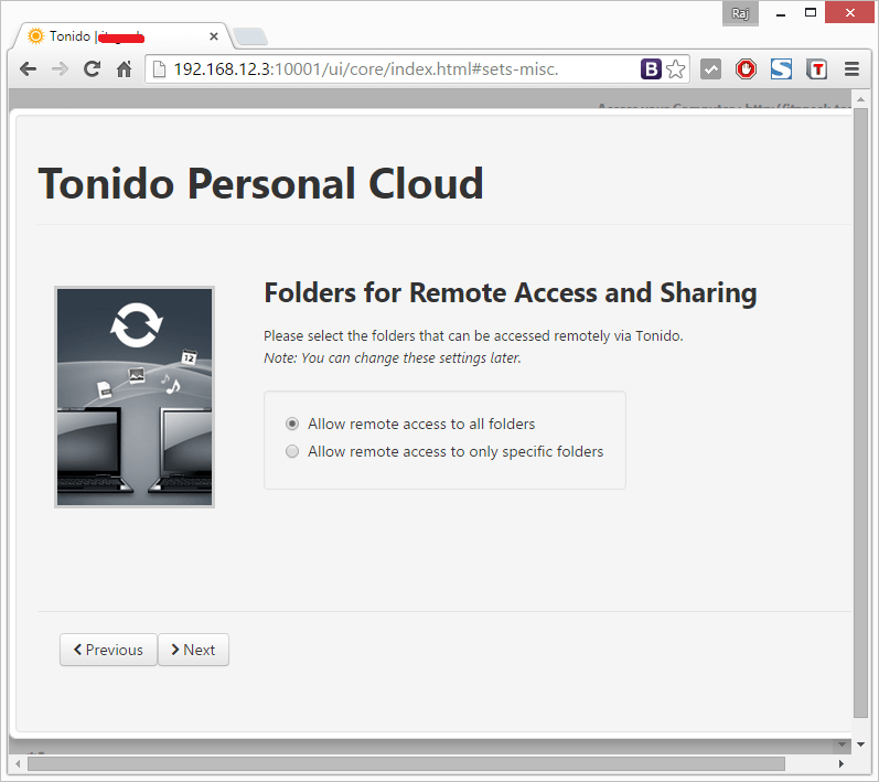 Install Tonido - Remote Access and Sharing