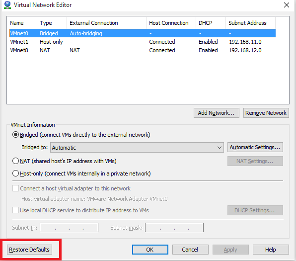 How to Fix - VMware DHCP Network is not working after