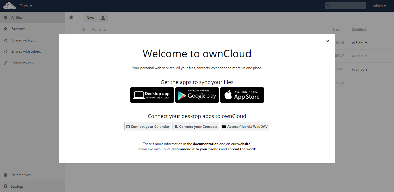 Install OwnCloud 8 on CentOS 7 - Apps