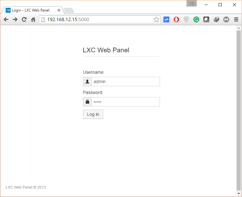 Manage LXC Container with LXC Web Panel - A Web Based Interface