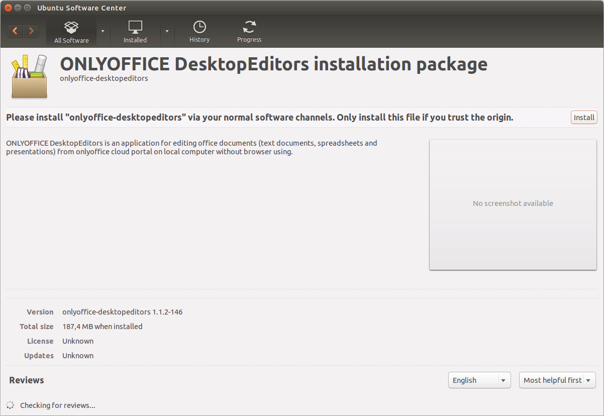 Install ONLYOFFICE Desktop Editor - Alternative to LibreOffice-Installation