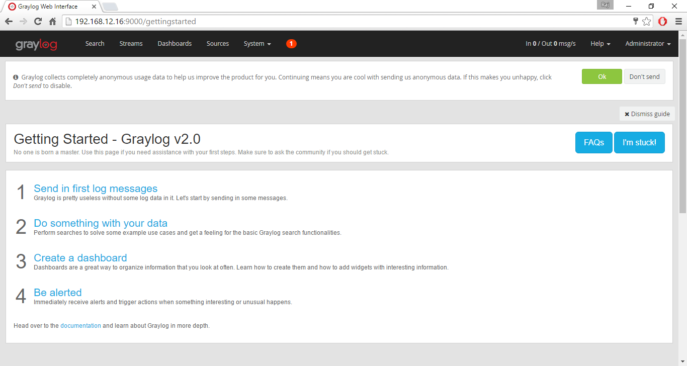Install Graylog on CentOS 7 - Getting Started