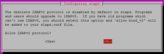 Configure OpenLDAP on Ubuntu 16.04 - Allow v2 protocol
