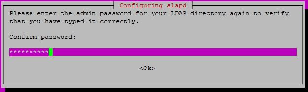 Configure OpenLDAP on Ubuntu 16.04 - Confirm Administrator password