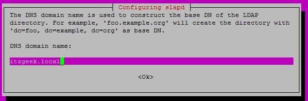 Configure OpenLDAP on Ubuntu 16.04 - DNS Domain Name