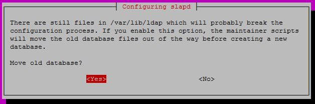 Configure OpenLDAP on Ubuntu 16.04 - Move old database