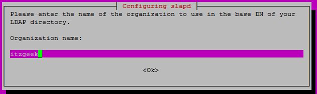 Configure OpenLDAP on Ubuntu 16.04 - Organization Name