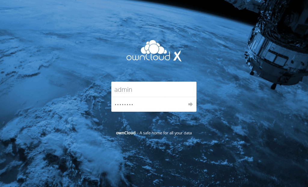 Install ownCloud 10 on Ubuntu 16.04 - ownCloud Login Page