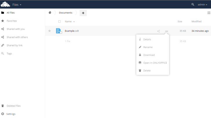 Edit OwnCloud / NextCloud Documents Online with ONLYOFFICE Online Editor
