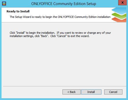 Deploy Your Private Web Office on Windows - Begin the installation